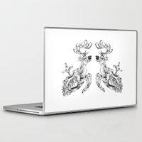clockwork Laptop & iPad Skins featuring clockwork deer by vasodelirium