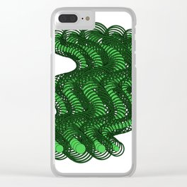 Snakes on a Page- Greens Clear iPhone Case