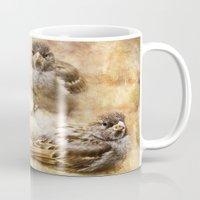 sparrow Mugs featuring Sparrow by Kimberley Britt