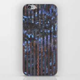 Abstract blue and brown iPhone Skin