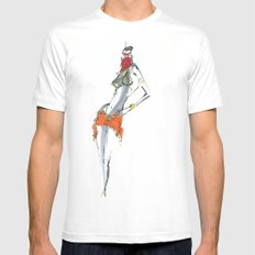 Dance for me Mens Fitted Tee White MEDIUM