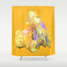 YELLOW QUARTZ CRYSTAL GOLDEN COLOR DESIGN Shower Curtain