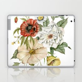Wildflower Bouquet on White Laptop & iPad Skin