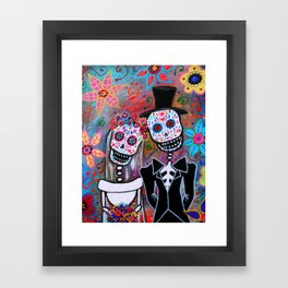 DAY OF THE DEAD WEDDING COUPLE LOVE PAINTING MAGICIAN MAGIC Framed Art Print