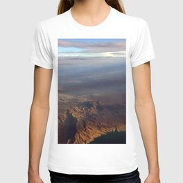 Mountains above T-shirt