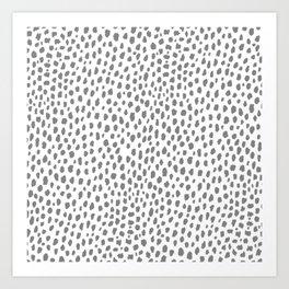 Gray Dalmatian Spots (gray/white) Art Print