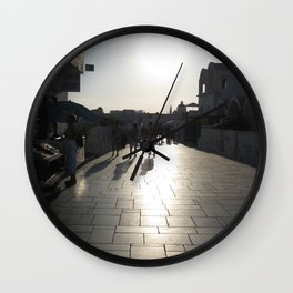 Marble Streets of Greece Wall Clock