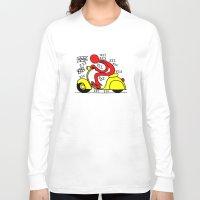 vespa Long Sleeve T-shirts featuring Vespa! by Gian Piero Mongiu