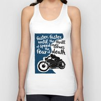 hunter s thompson Tank Tops featuring Hunter S. Thompson Moto Girl  by Peated Proverbs