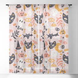 Trick Or Treat Yourself – Blush Sheer Curtain