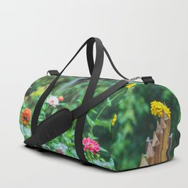 fence flowers Duffle Bag