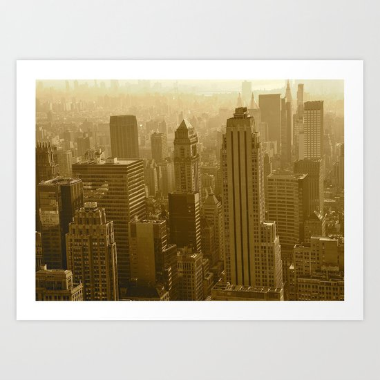 Midtown from On High Art Print