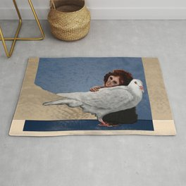 The conception of love and peace Rug