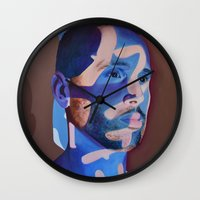 lost in translation Wall Clocks featuring Lost in Translation by Emily Lovejoy