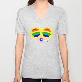 Rainbow Cigs Unisex V-Neck