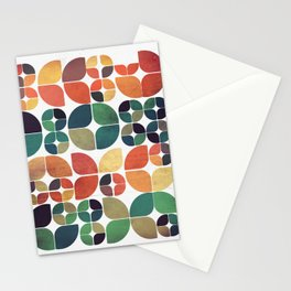 Vintage Fall Pattern Stationery Cards
