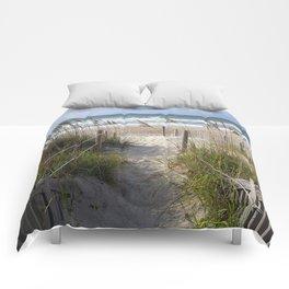 Peaceful Beach Scene Comforters
