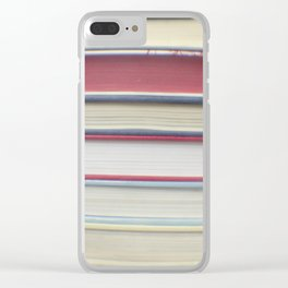 Book stripes - red Clear iPhone Case