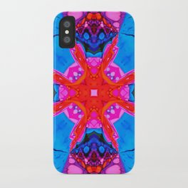 Liquid Blue Pink Fractal iPhone Case