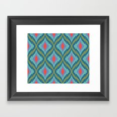 Bright Flame Bargello Framed Art Print