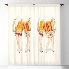Cheers! Beer Pin-Ups Blackout Curtain