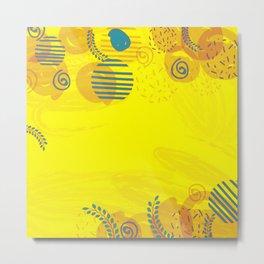 yellow home design pattern Metal Print