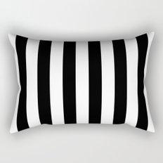Parisian Black & White Stripes (vertical) Rectangular Pillow
