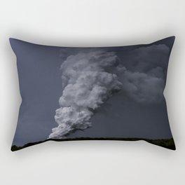 Hawaii's Kilauea volcano erupting. Rectangular Pillow