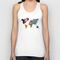 map of the world Tank Tops featuring World Map by jbjart