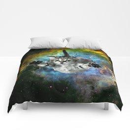 Galaxy Cat Universe Kitten Launch                                                 Comforters