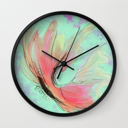 Translucent butterfly Wall Clock