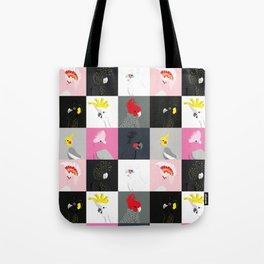 Australian cockatoos tile pattern Tote Bag