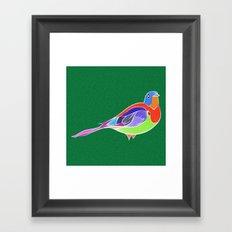 Bird - Green Framed Art Print