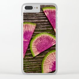 Watermelon Radishes Clear iPhone Case