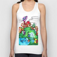 animal crossing Tank Tops featuring Animal crossing invasioni  by Cristina Lunat Sugamele
