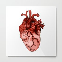 The Heart Metal Print