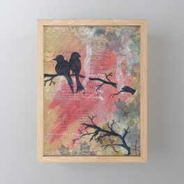 Together - Winter Birds Framed Mini Art Print