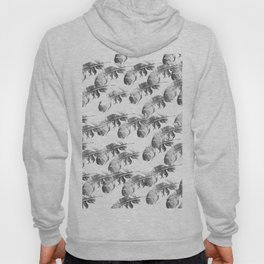 FEATHERS GRAY AND WHITE PATTERN Hoody
