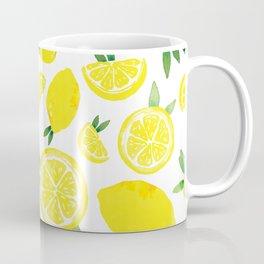 Zesty Lemon Pattern Coffee Mug