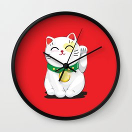 My Lucky Cat Wall Clock