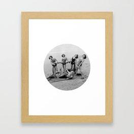 Mermaid Catchers Framed Art Print