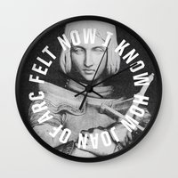 smiths Wall Clocks featuring Joan of Arc by Anna Dorfman