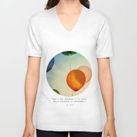 happiness V-neck T-shirts featuring Happiness... by Alicia Bock