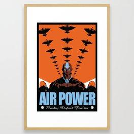 Air Power: Bending Defends Freedom Framed Art Print