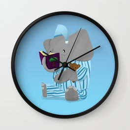 Storytime Elephant in Pajamas Wall Clock