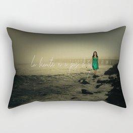 la beaute n'a pas d'age Rectangular Pillow