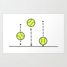Bouncing Balls - Tennis love Art Print