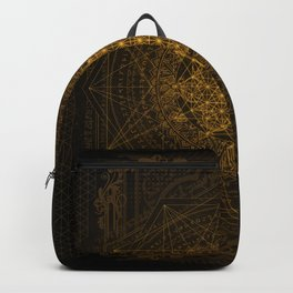 Dark Matter - Gold - By Aeonic Art Backpack