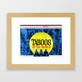 Taboos of the World Framed Art Print