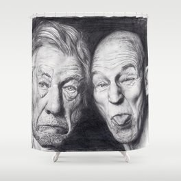 Patrick Stewart & Ian McKellen Shower Curtain
